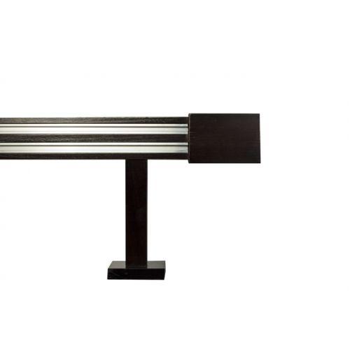 Galerie dubla lemn tei vopsit lacuit cu 2 canale insertate de aluminiu 1