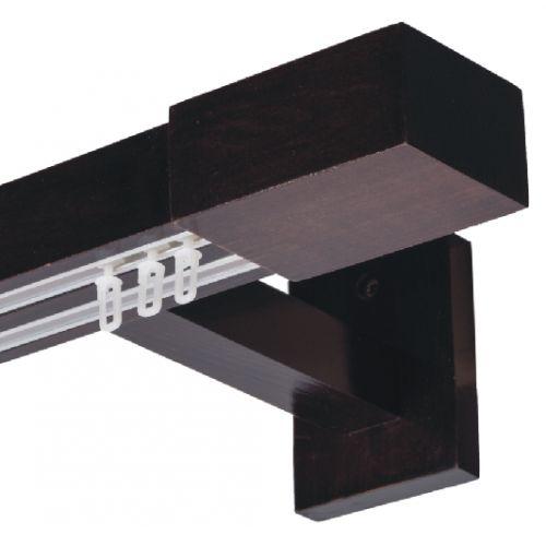 Galerie dubla lemn tei vopsit lacuit cu 2 canale insertate de aluminiu 2