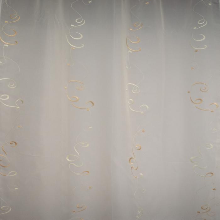 Perdea Velaria de bucatarie voal crem cu imprimeu, 170x140 cm 1