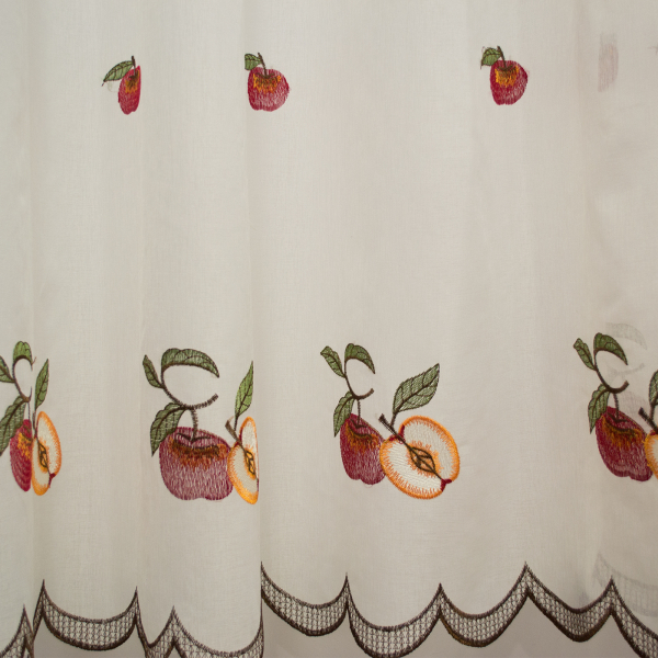 Perdea de bucatarie in cu fructe, 280x160 cm [2]