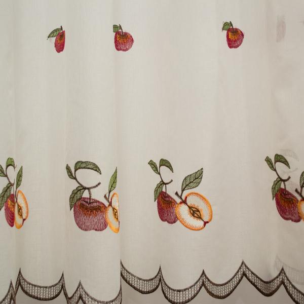 Perdea de bucatarie in cu fructe grena, 430x160 cm 2