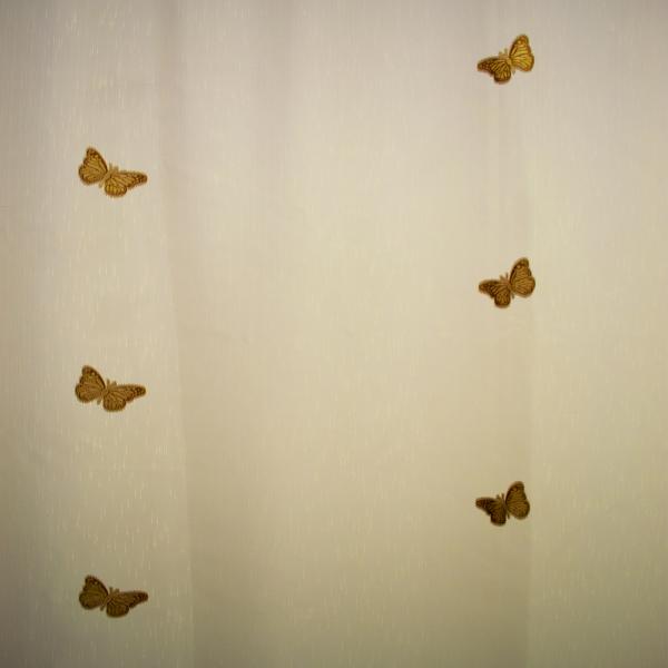 Perdea fluturi maro 215x245 cm [1]