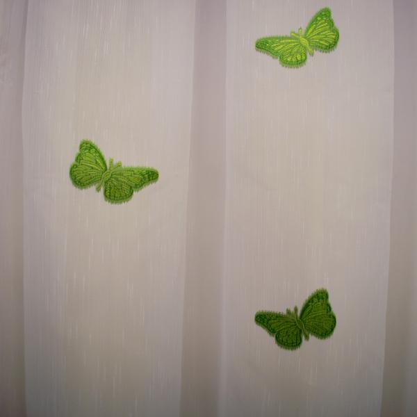 Perdea Velaria sable cu fluturi verde 1