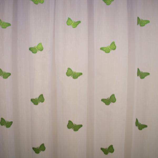 Perdea Velaria sable cu fluturi verde 2