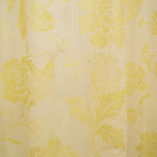 Perdea supershiny paint gold flowers, 430x245 cm 1