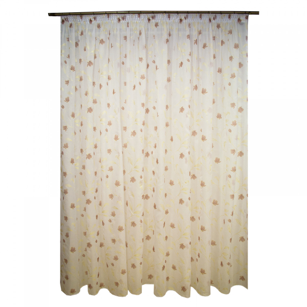 Perdea superpaint flowers brown, 390x245 cm 0