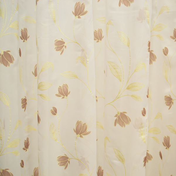 Perdea superpaint flowers brown, 390x245 cm 1