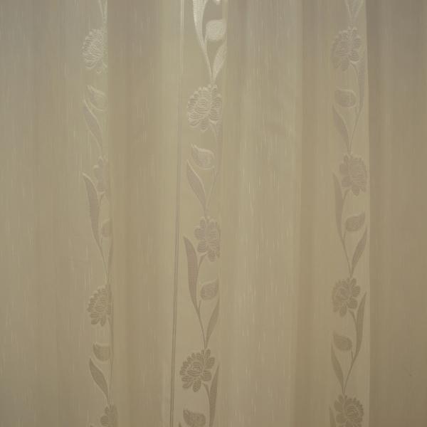 Perdea supersable cu flori ivory, 330x245 cm 1