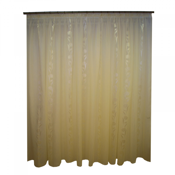 Perdea supersable  flori ivory 470x245 cm 0