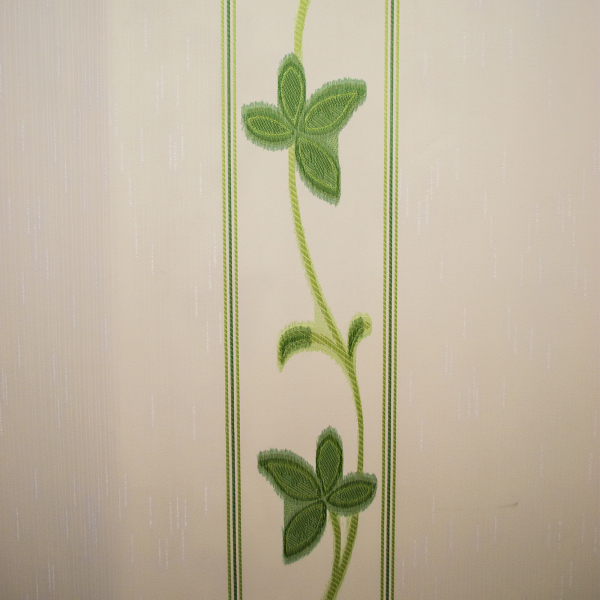 Perdea supersable  flori verzi, 140x245 cm [1]