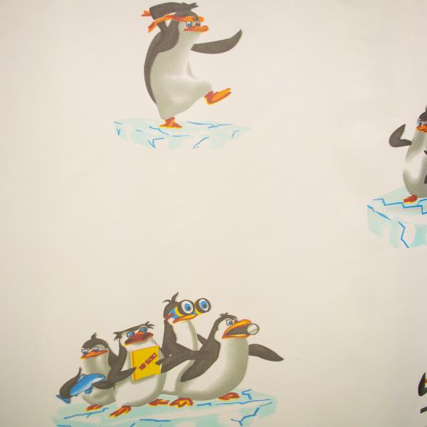 Perdea Velaria voal cu pinguini 170x245 cm 2