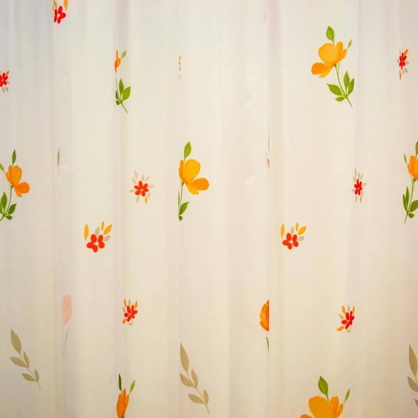Perdea supervoal flori de campie portocalii, 220x245 cm 2