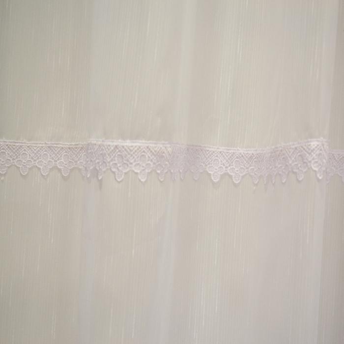 Perdea Velaria sable alb cu dantela, 340x140 cm 2