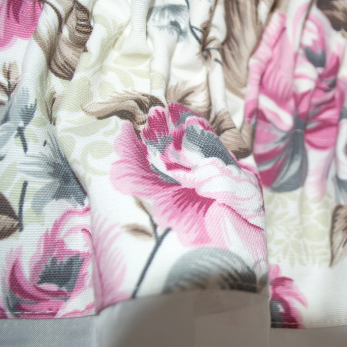 Perdea Velaria voal unt cu fluturi roz, 260x170 cm [1]