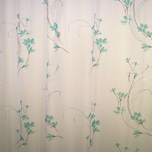 Perdea Velaria cu flori turqoise 155x245 cm 2