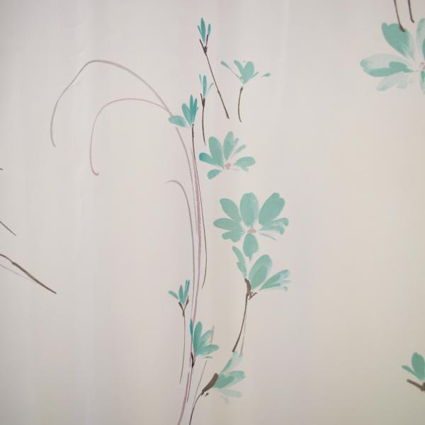 Perdea Velaria cu flori turqoise 155x245 cm 1