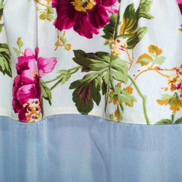 Perdea Velaria voal cu flori, 315x155 cm 1