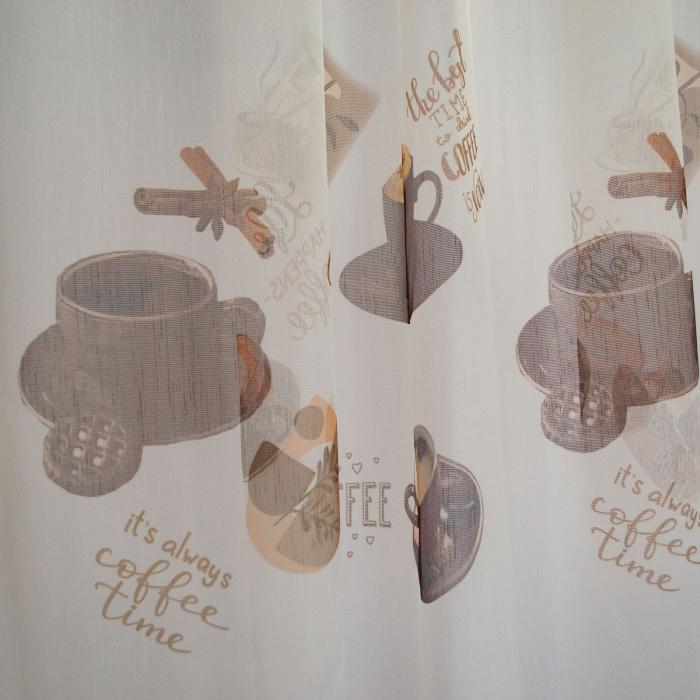 Perdea Velaria de bucatarie cu cesti de cafea [1]