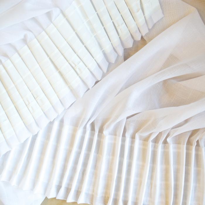 Perdea Velaria in sude heavy alb, 230x240 cm [4]
