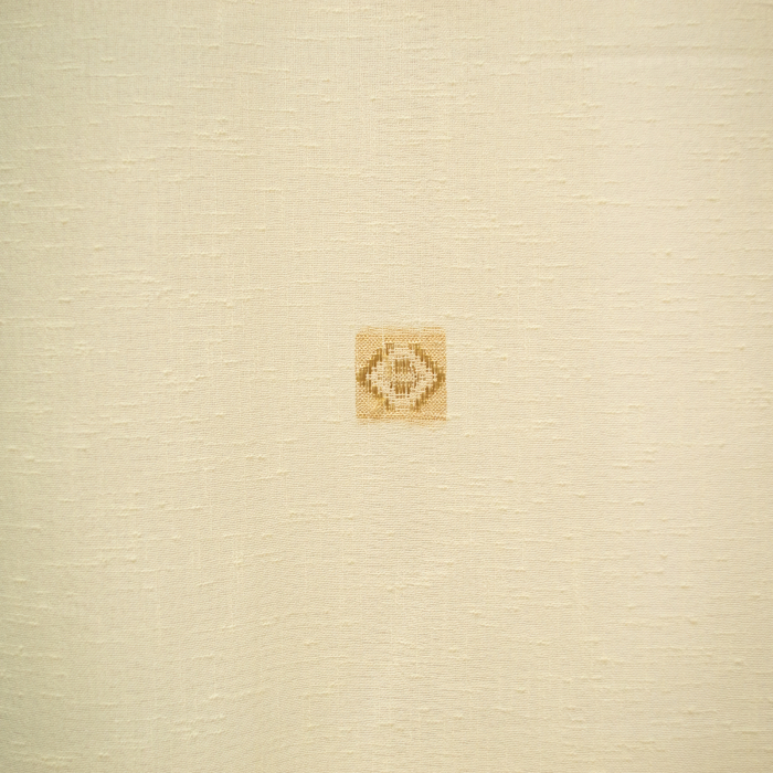 Perdea Velaria in patrat crem, 75x175 cm 1