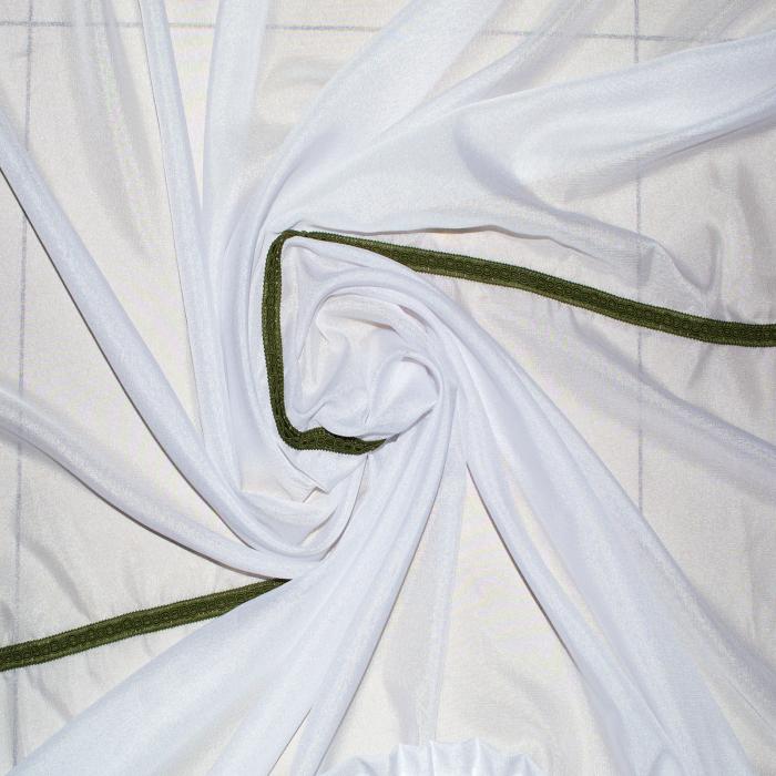 Perdea Velaria in cristal alb cu fir verde, 280x150 cm 1
