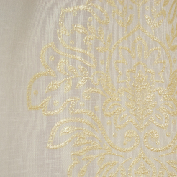 Perdea Velaria in ivoire cu baroc auriu 2
