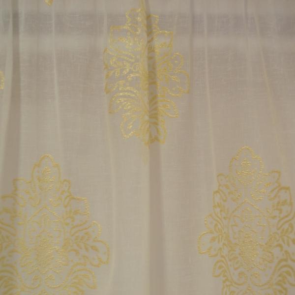 Perdea Velaria in ivoire cu baroc auriu 1