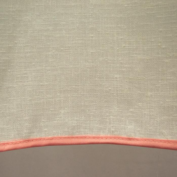 Perdea Velaria in ivoire gros cu imprimeu floral, 245x145 cm 3