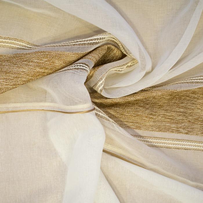 Perdea Velaria in crem cu dungi bej, 230x160 cm 1