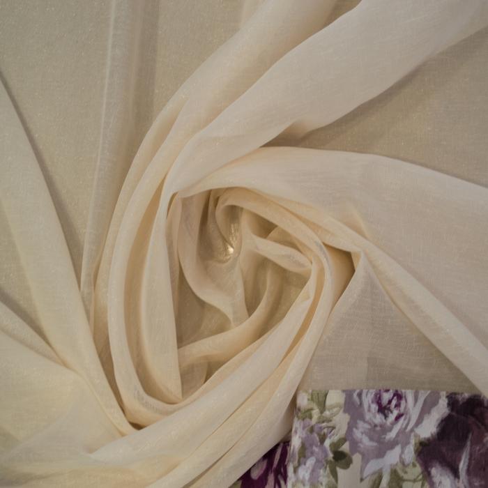 Perdea Velaria in lucios crem, 130x140 cm 1