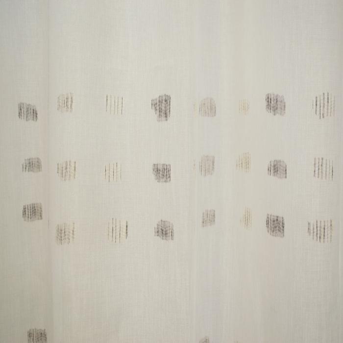 Perdea Velaria in alb cu imprimeu geometric, 160x175 cm 1