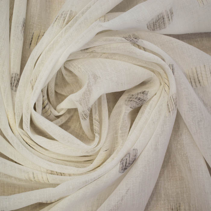 Perdea Velaria in alb cu imprimeu geometric, 160x175 cm 2