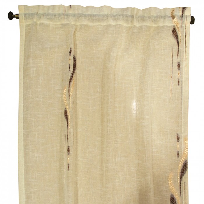 Perdea Velaria in lacrima wenge, 60x125 cm [1]