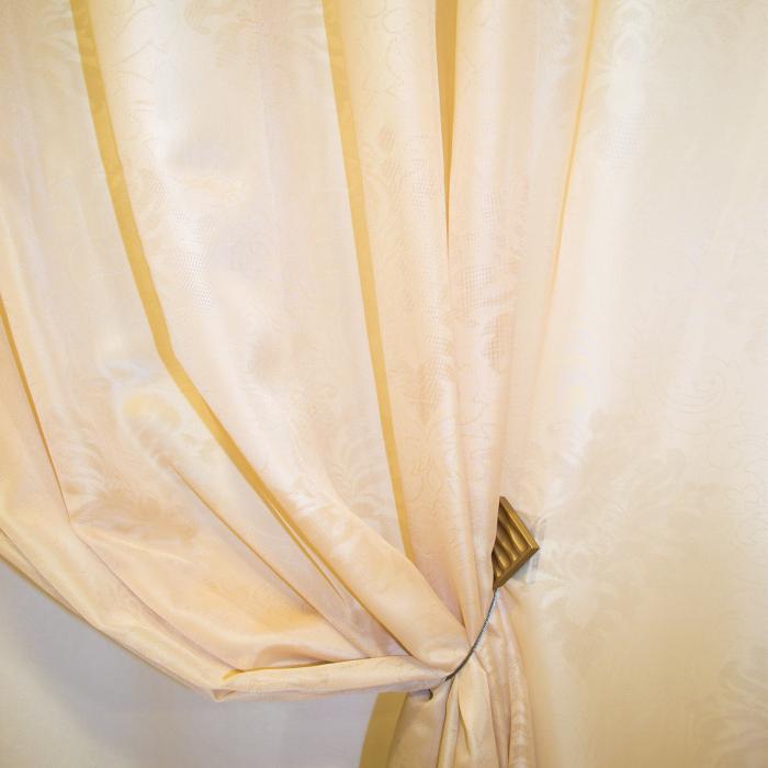 Perdea Velaria baroc bej, 225x245 cm 1