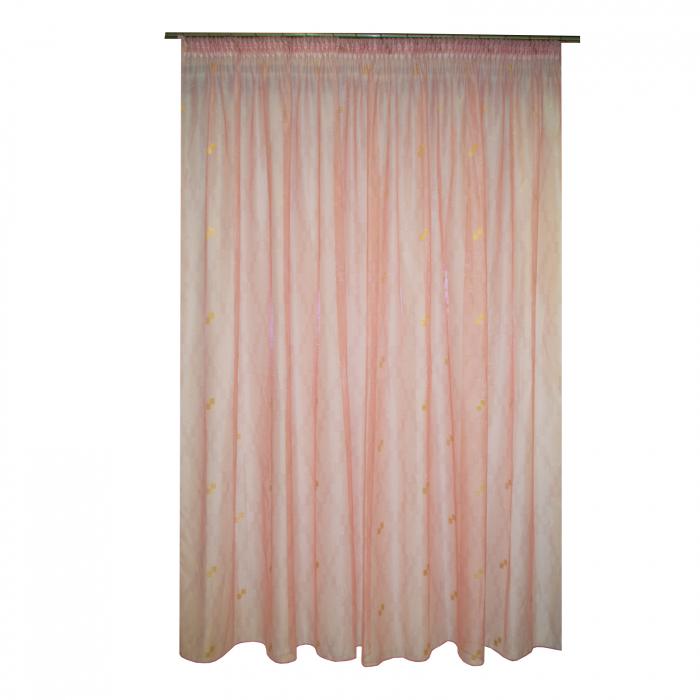 Perdea Velaria organza roz cu auriu, 335x245 cm 0
