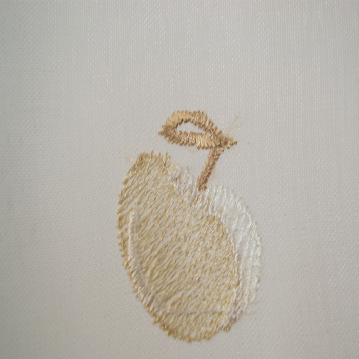 Perdea Velaria de bucatarie, cirese crem, 155x165 cm 1