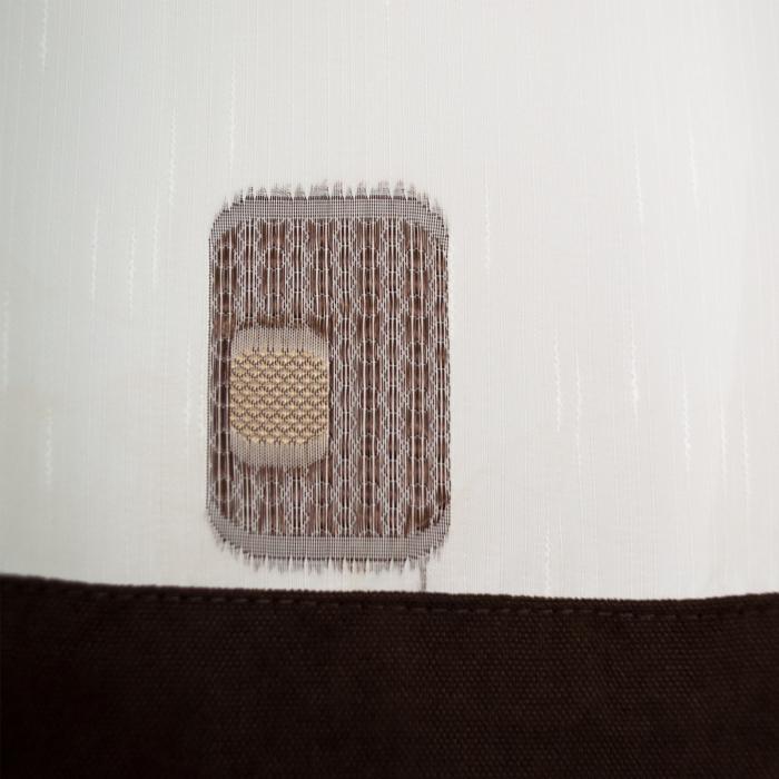 Perdea Velaria sable cu patrate maro, 290x140 cm 1