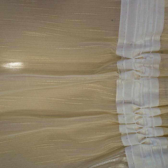 Perdea Velaria sable flori bej, 470x245 cm 3