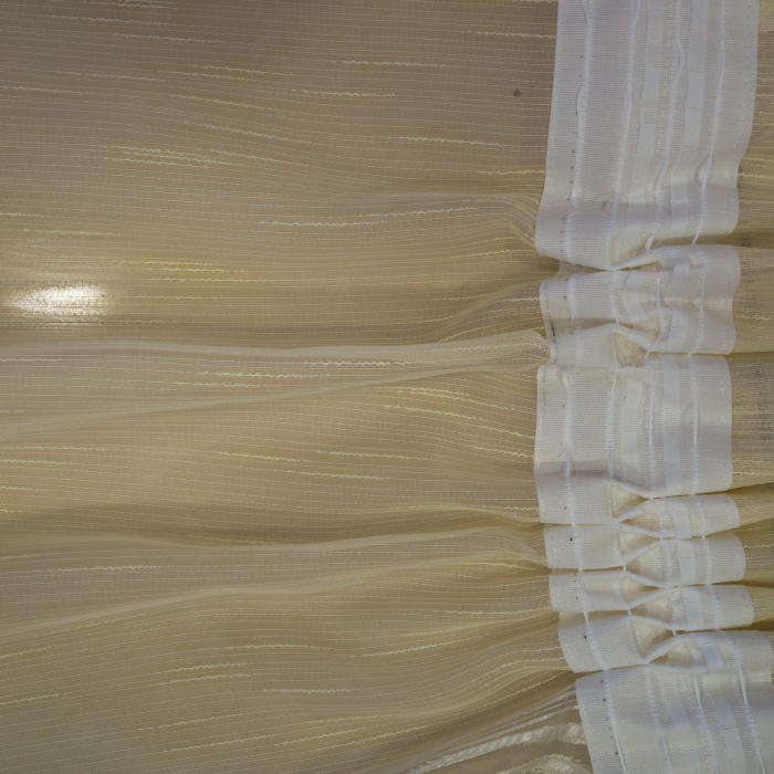 Perdea Velaria sable unt flori maro, 300x45 cm 2