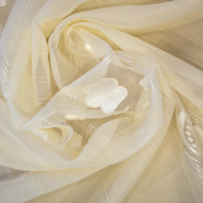 Perdea Velaria sable flori unt, 190x165 cm 1