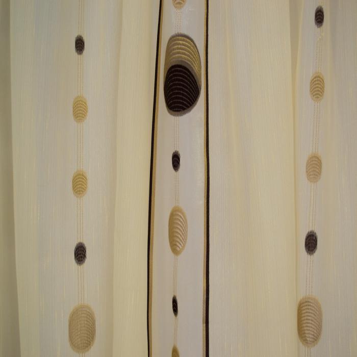 Perdea Velaria sable cu cercuri maro, 365x85 cm 2