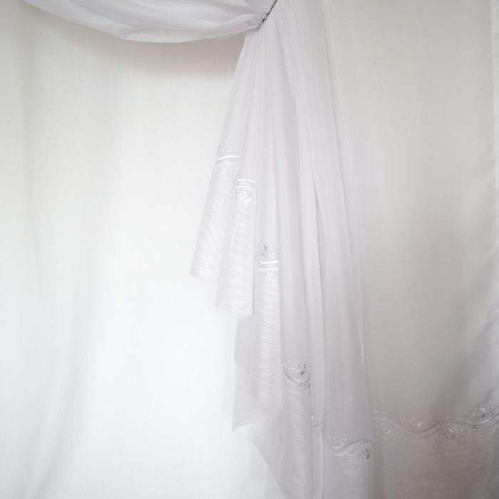 Perdea Velaria voal alb cu bordura, 290x245 cm 2