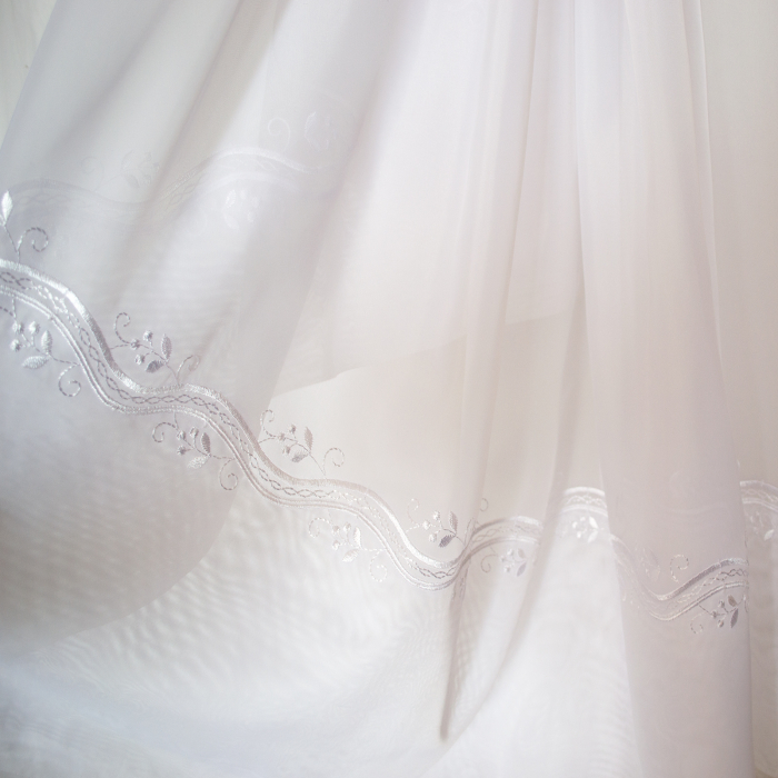 Perdea Velaria voal alb cu bordura, 290x245 cm 1