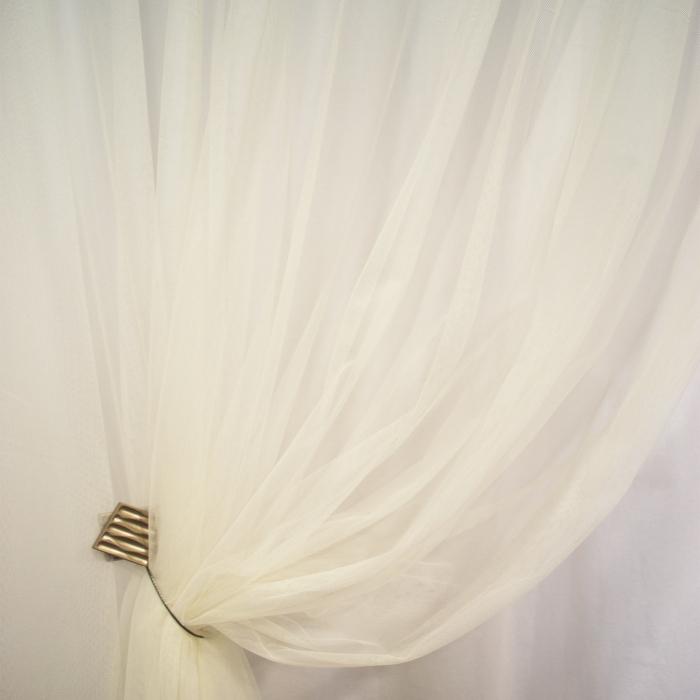 Perdea Velaria tiul unt cu bordura brodata, 630x260 cm 3