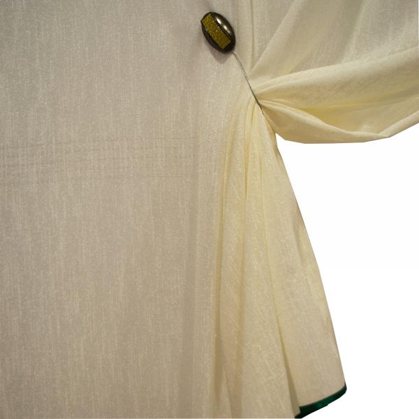 Perdea Velaria din in gros culoare unt, 145x180 cm [1]