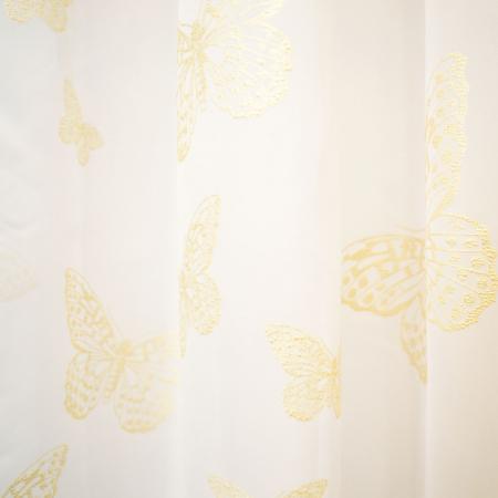 Perdea Velaria voal alb cu fluturi aurii, 245x160 cm 1