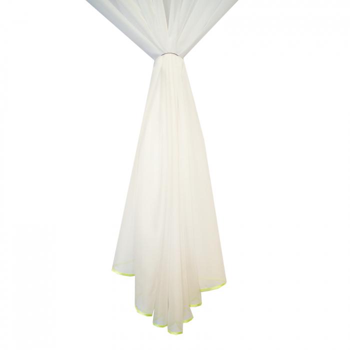 Perdea Velaria voal alb cu fluturi aurii 4