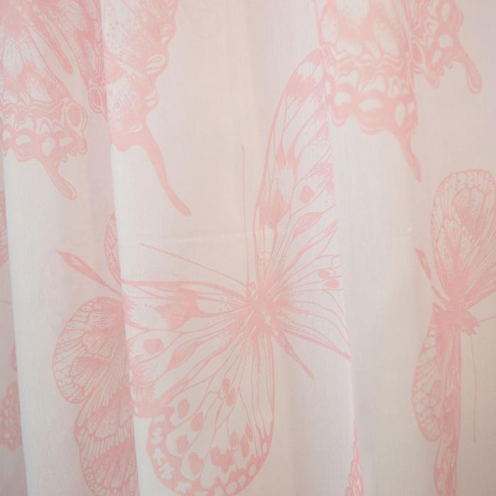Perdea Velaria batist fluturi roz, 270x175 cm [1]