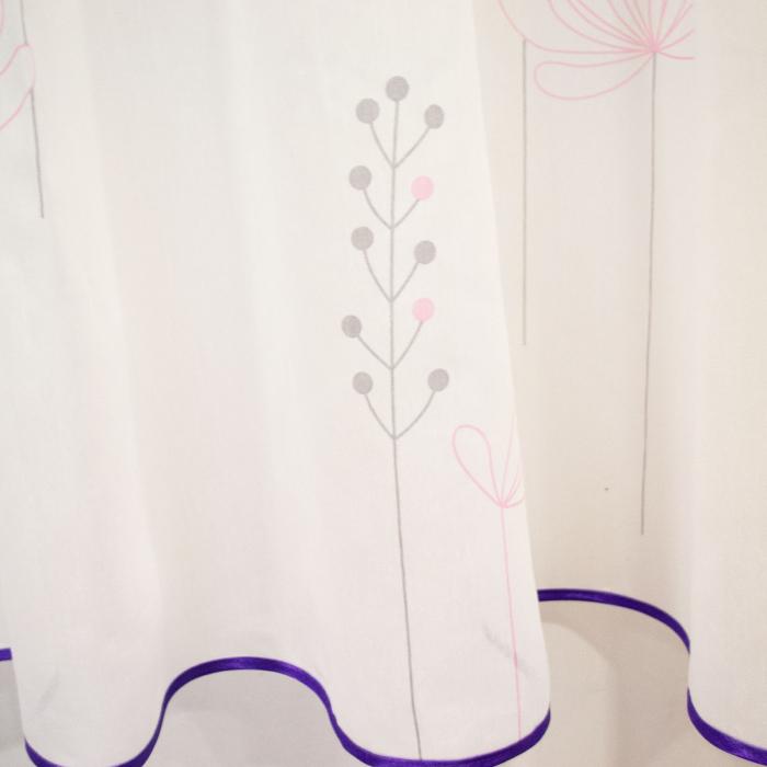 Perdea Velaria batist flori mov, 290x155 cm [2]