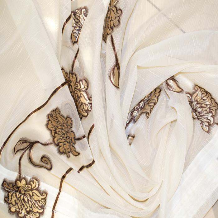 Perdea Velaria sable flori maro, 550x60 cm 1